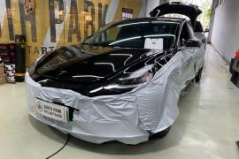 【特斯拉 Model3】全车狮龙顶级隔音王_厦门南方公园汽车音响改装