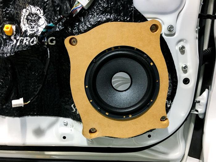 195【雷克萨斯 ES200改装案例】德国彩虹幻想系列、美国西迪声 DSP 功放、四门狮龙隔音 隔音改装 第14张