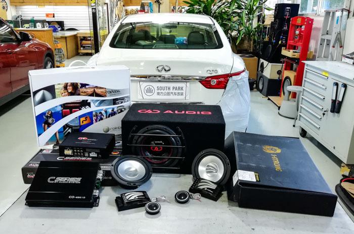 厦门英菲尼迪Q50汽车音响改装美国DD - 厦门南方公园汽车音响改装 隔音改装 第2张