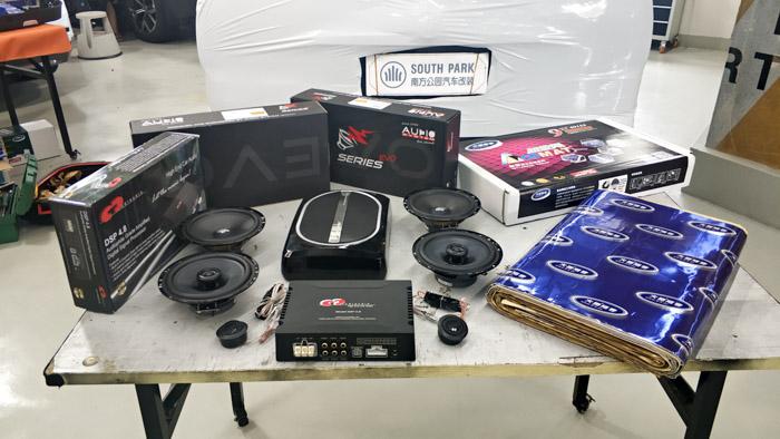 别克GL8汽车音响改装德国 - 厦门南方公园汽车音响改装 隔音改装 第2张
