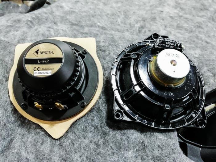 190【奔驰 C63改装案例】升级日本必伟中、高音,彩虹奔驰专用喇叭,DD 超低音 音响改装 第4张